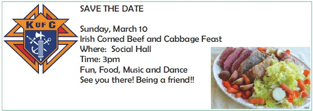 KofC Corned Beef and Cabbage Feast
